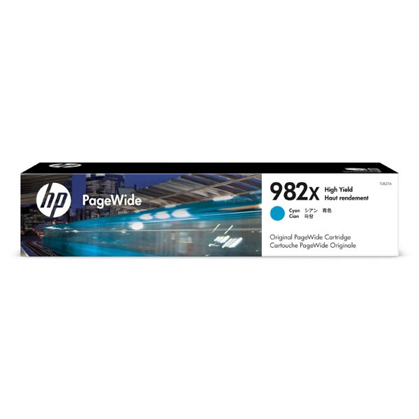 HP originální ink T0B27A, HP 982X, cyan, 16000str., high capacity, HP PageWide Enterprise Color 765, 780, 785 HP