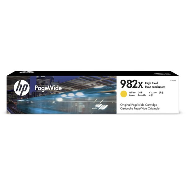 HP originální ink T0B29A, HP 982X, yellow, 16000str., high capacity, HP PageWide Enterprise Color 765, 780, 785 HP