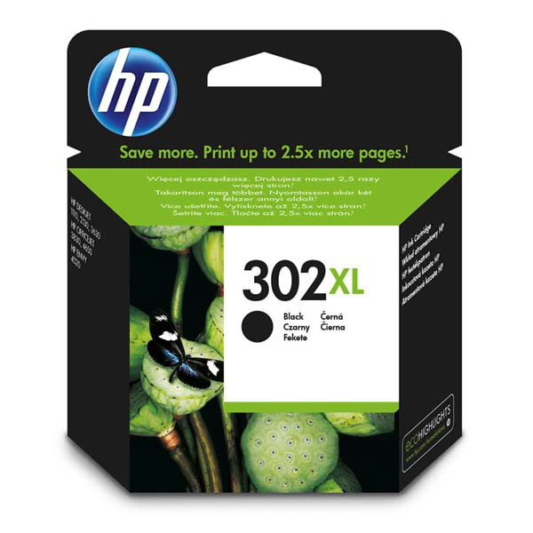 HP originální ink F6U68AE, HP 302XL, black, HP OJ 3830,3834,4650, DJ 2130,3630,1010, Envy 4520