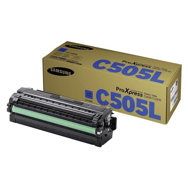 HP originální toner SU035A, CLT-C505L, cyan, 3500str., C505L, high capacity, Samsung ProXpress SL-C2620DW, SL-C2670FW, SL-C2680FX