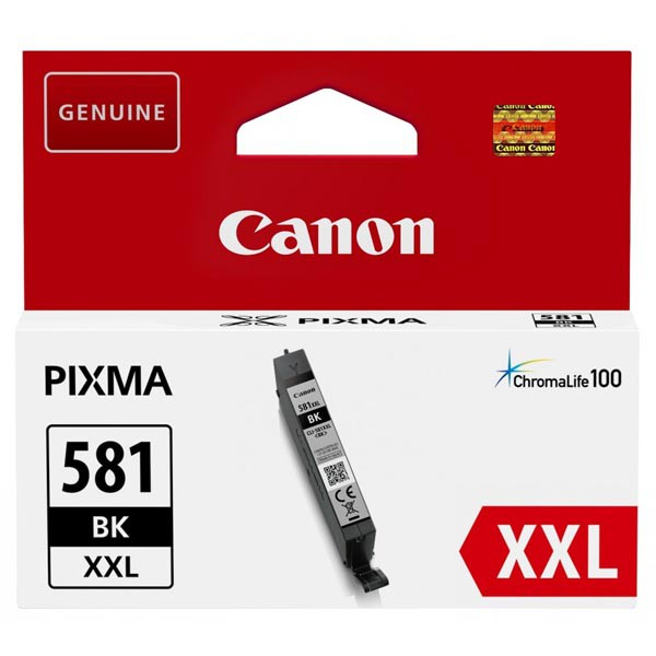 Canon originální ink CLI-581BK XXL, black, 11.7ml, 1998C001, very high capacity, Canon PIXMA TR7550, TR8550, TS6150, TS8150, TS915