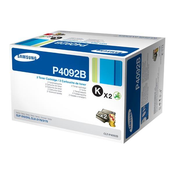 HP originální toner SU391A, CLT-P4092B, black, 1500str., P4092B, Samsung CLX-3170, CLX-3175, CLX-3176, CLX-4175, dual pack