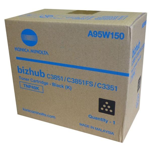 Konica Minolta originální toner A95W150, black, 13000str., TNP-49K, Konica Minolta Bizhub C3351, bizhub C3851, bizhub C3851FS