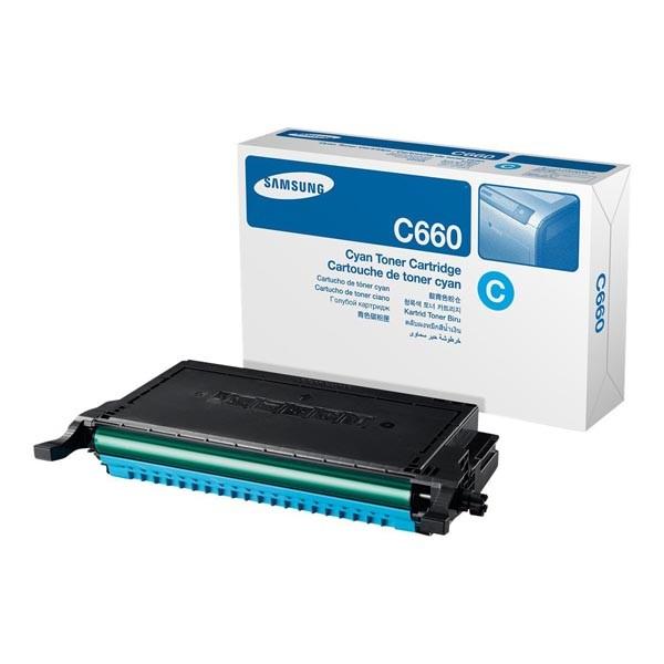 SAMSUNG CLP-C660B - originální toner, azurový, 5000 stran