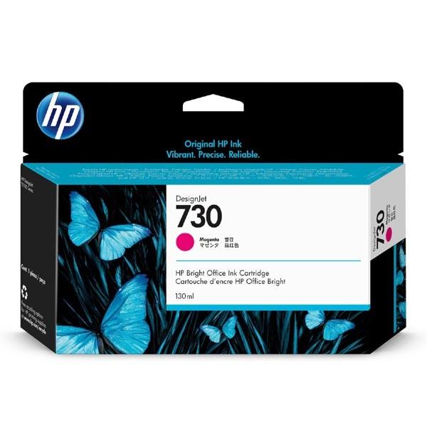 HP originální ink P2V63A, HP 730, magenta, 130ml, HP