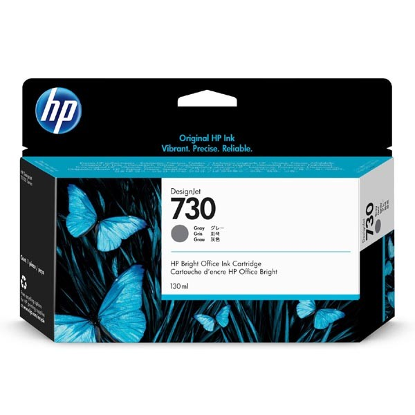 HP originální ink P2V66A, HP 730, gray, 130ml, HP