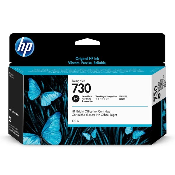 HP originální ink P2V67A, HP 730, photo black, 130ml, HP
