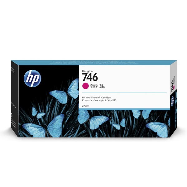 HP originální ink P2V78A, HP 746, magenta, 300ml, HP HP DesignJet Z6, Z9+