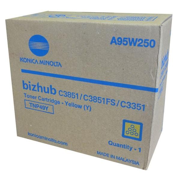 Konica Minolta originální toner A95W250, yellow, 12000str., TNP-49Y, Konica Minolta Bizhub C3351, bizhub C3851, bizhub C3851FS