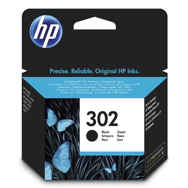 HP ink F6U66AE, HP 302, black, 190str., 3.5ml, HP OJ 3830,3834,4650, DJ 2130,3630,1010, Envy 4520