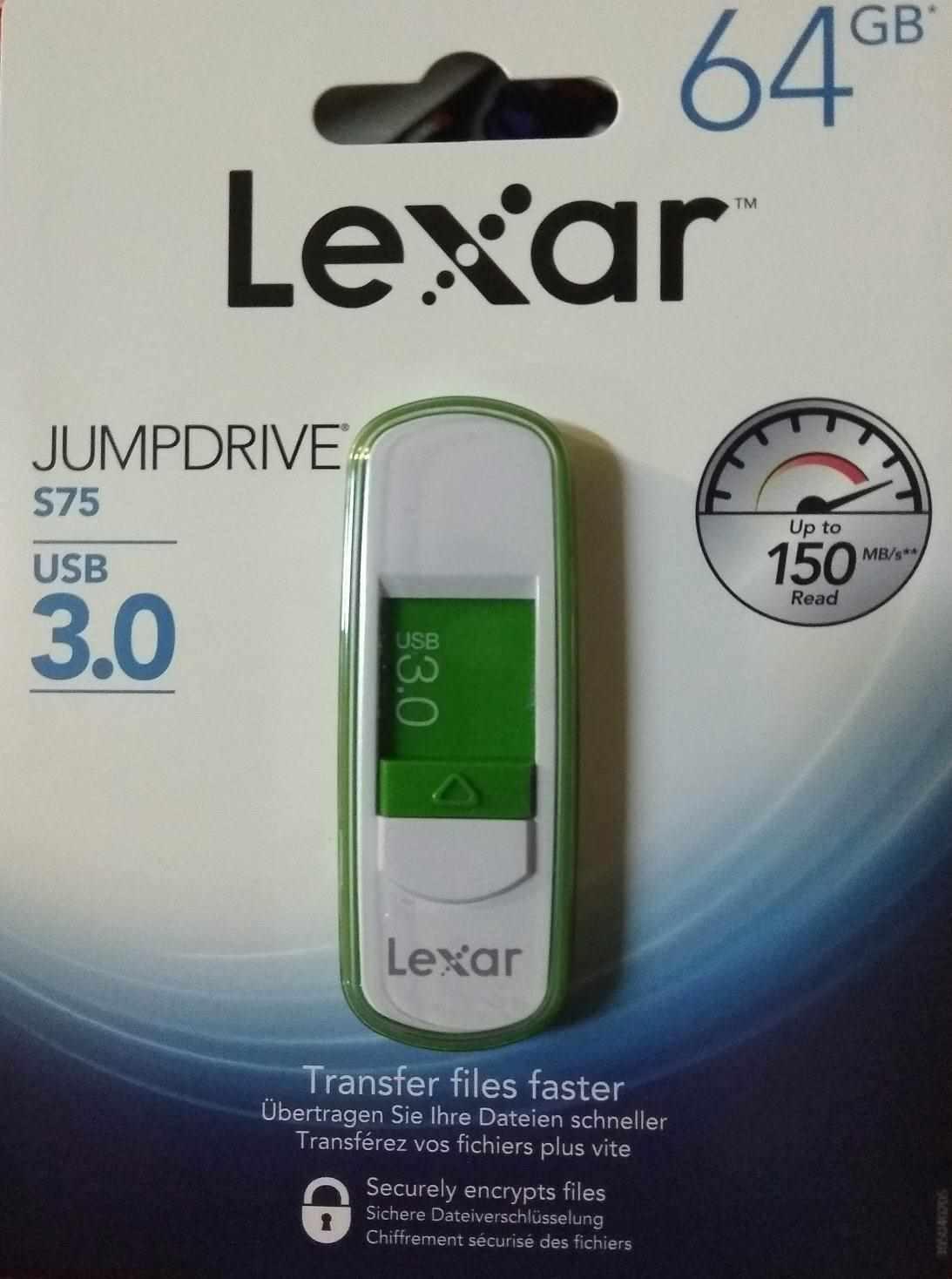 Lexar USB flash disk JumpDrive S75 (USB 3.0) 64GB