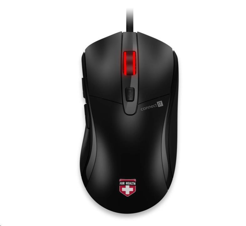 CONNECT IT Myš FOR HEALTH vyhřívaná drátová myš, černá