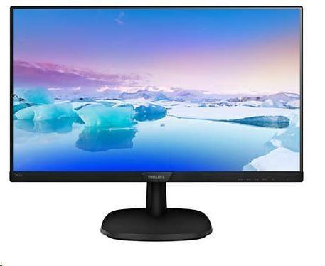 "Philips MT IPS LED 23, 8"" 243V7QSB/00 - IPS panel, 1920x1080, 250cd, D-Sub, DVI-D"