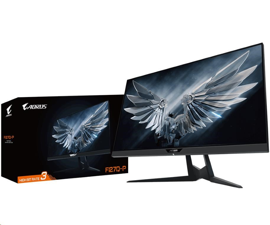 "GIGABYTE LCD - 27"" Gaming monitor AORUS FI27Q-P, 2560x1440, 12M:1, 350cd/m2, 1ms, 2xHDMI 2.0, 1xDP 1"