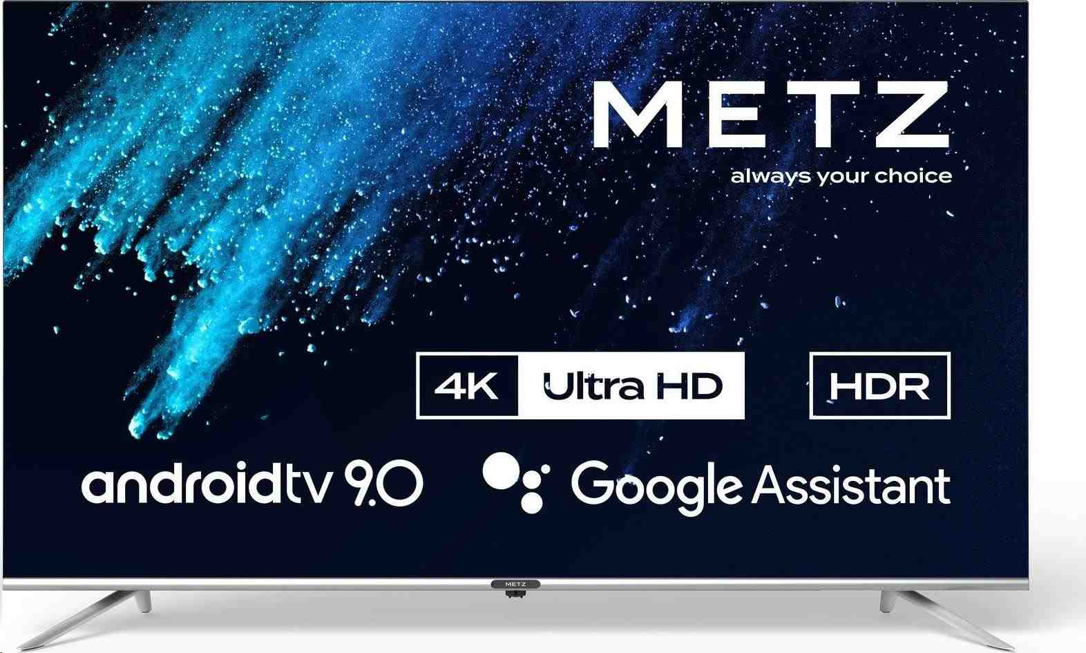 "METZ 50"" 50MUC8000Z, Smart Android, Direct LED, UHD (3840x2160), 9, 5ms, DVB-T2/S2/C, HDMI, USB"
