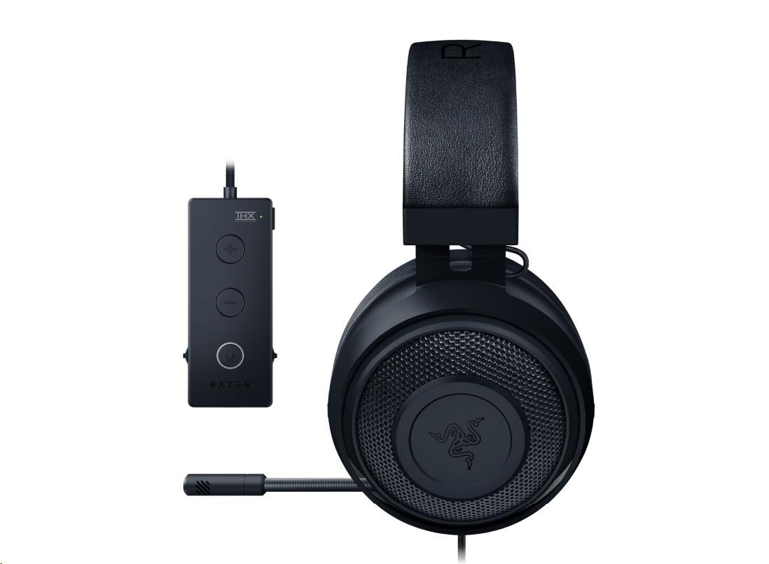 RAZER sluchátka Kraken Tournament Edition s audio ovladačem THX, černé