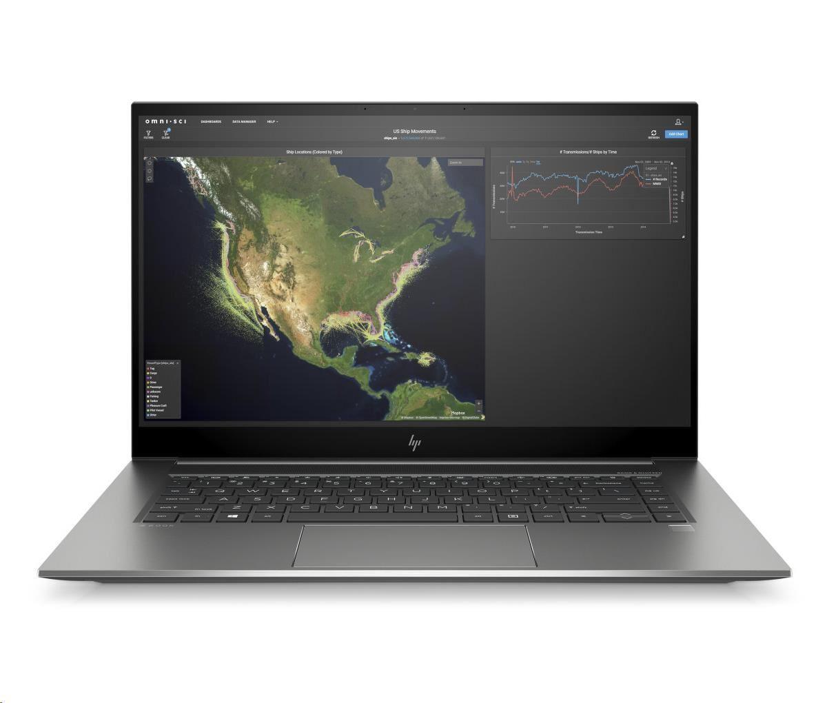 HP ZBook Studio G7 i7-10850H, 15.6 FHD AG LED 400, 32GB, 1TB NVMe m.2, RTX3000 Max-Q/6GB, WiFi AX, B