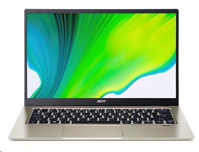 "ACER NTB Swift 1 (SF114-34-P5M8) - 14"" IPS FHD, Pentium® Silver N6000, 8GB, 256SSD, UHD Graphics 615, W10H, Zlatá"