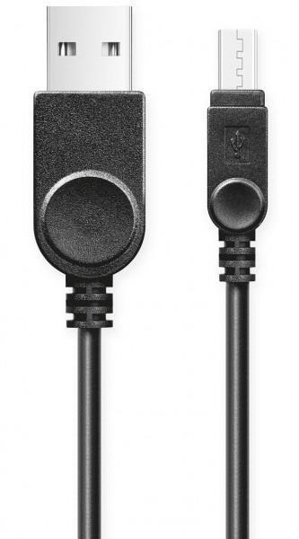 Aligator datový kabel micro USB s prodlouženým konektorem - bulk, černá