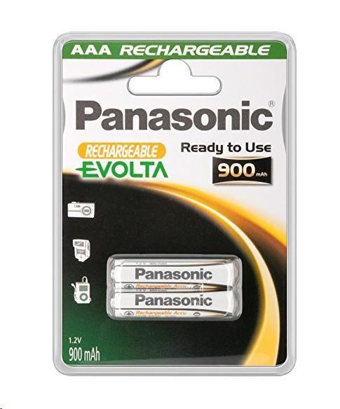 PANASONIC Nabíjecí baterie EVOLTA (Ready to Use - pro Náročné podmínky) HHR-4XXE/2BC 900mAh AAA 1, 2V (Blistr 2ks)