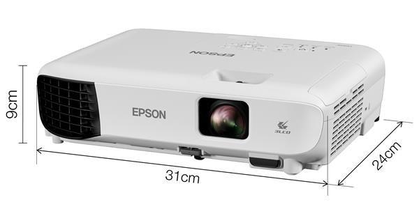 EPSON projektor EB-E10, 1024x768, 3600ANSI, 15000:1, USB, VGA, HDMI