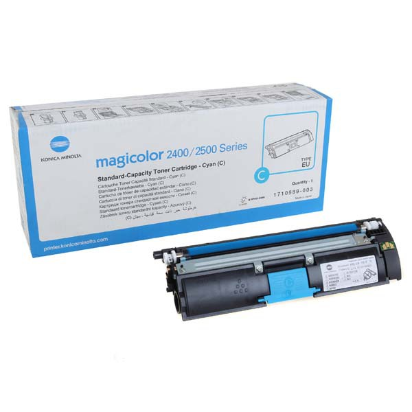 Konica Minolta originální toner A00W331, cyan, 1500str., 1710-5890-03, Konica Minolta Magic Color 2400, 2430, 2450