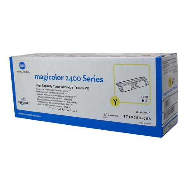 Konica Minolta originální toner A00W132, yellow, 4500str., 1710-5890-05, Konica Minolta Magic Color 2400, 2430, 2450, 2480, 2500,