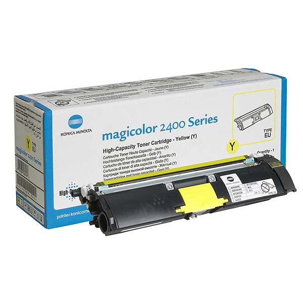 Konica Minolta originální toner A00W132, yellow, 4500str., 1710-5890-05, s hologramem, Konica Minolta Magic Color 2400, 2430, 2450
