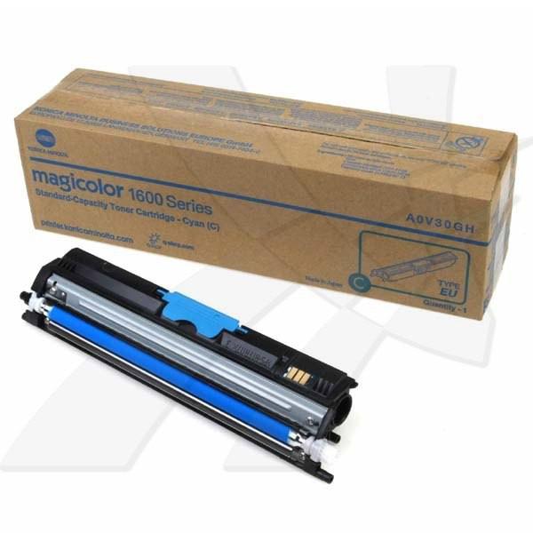 Konica Minolta originální toner A0V30GH, cyan, 1500str., Konica Minolta QMS MC1650EN, MC1650END, MC1650, 1600W ,MC1680