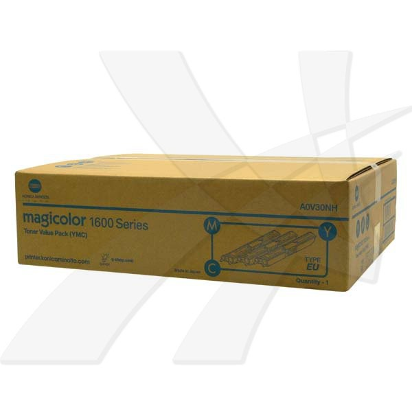 Konica Minolta originální toner A0V30NH, cyan/magenta/yellow, 7500 (3x2500)str., Konica Minolta QMS MC1650EN, MC1650END, MC1650, 1