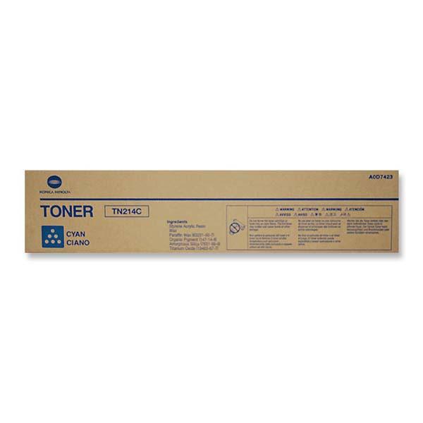 Konica Minolta originální toner TN214C, cyan, 18500str., A0D7454, Konica Minolta Bizhub C200