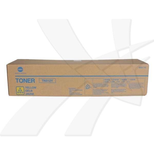 Konica Minolta originální toner TN312Y, yellow, 12000str., 8938-706, Konica Minolta Bizhub C300, C352