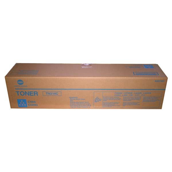 Konica Minolta originální toner TN314, cyan, 20000str., A0D7451, Konica Minolta Bizhub C353