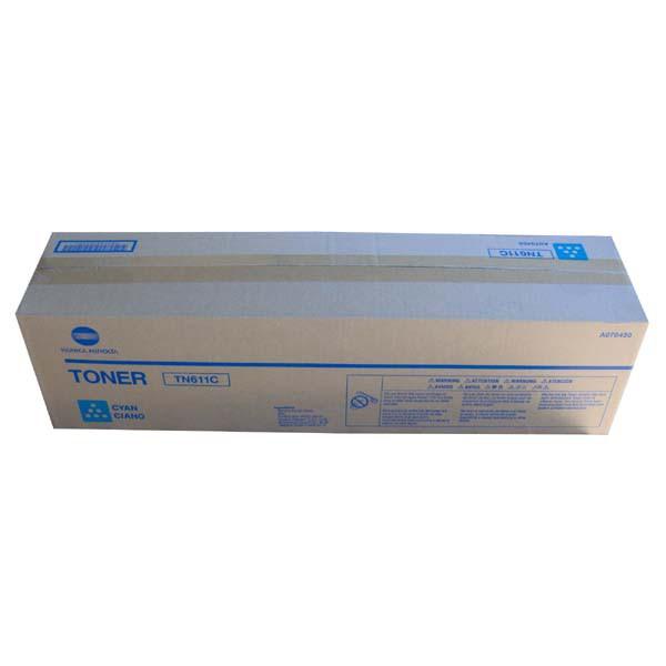 Konica Minolta originální toner A070450, cyan, 27000str., TN611C, Konica Minolta Bizhub C550