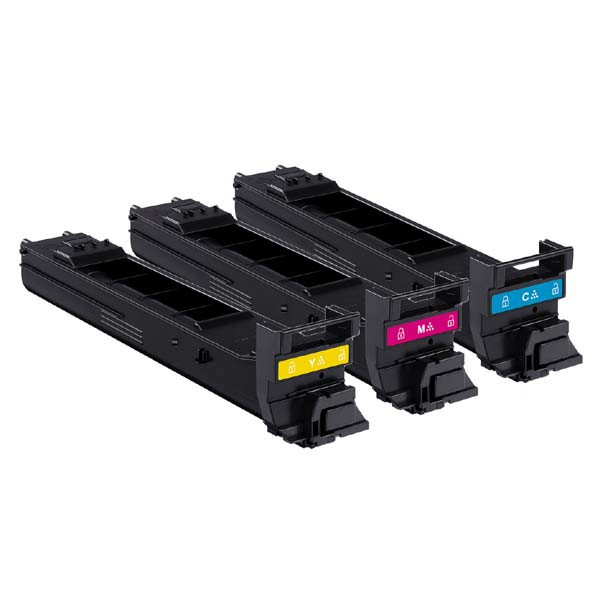 Konica Minolta originální toner A0DKJ51, cyan/magenta/yellow, 4000str., Konica Minolta MC 4650D, value kit