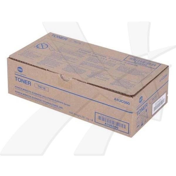 Konica Minolta originální toner TN116K, black, 22000 (2x11000)str., A1UC050, Konica Minolta Bizhub 164, 184, 185