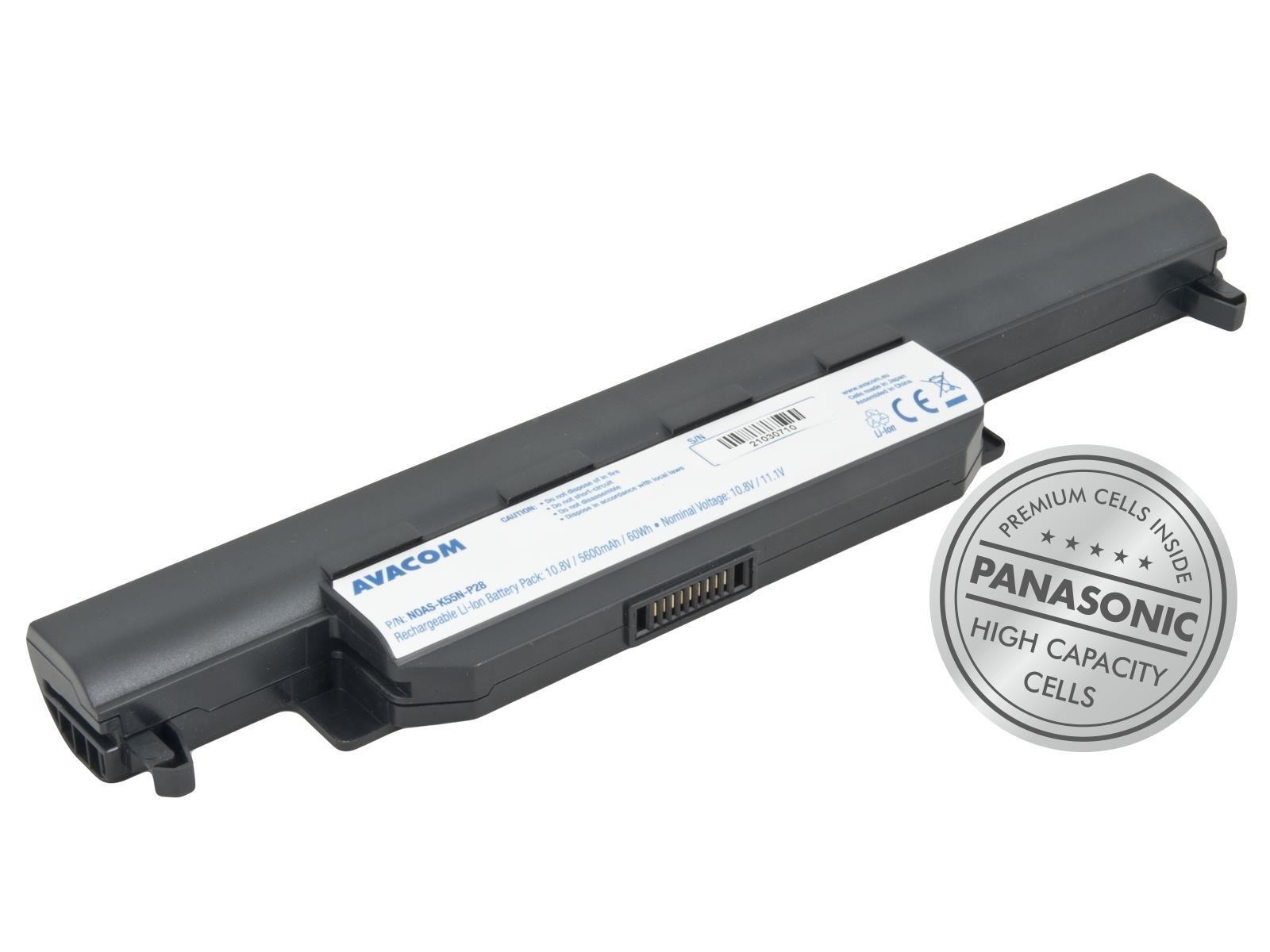 AVACOM baterie pro Asus K55, X55, R700 Li-Ion 10, 8V 5600mAh