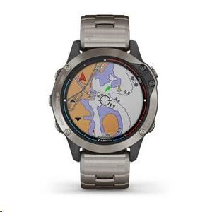 Garmin GPS sportovní hodinky quatix6 PRO Sapphire, Titanium, Titanium band