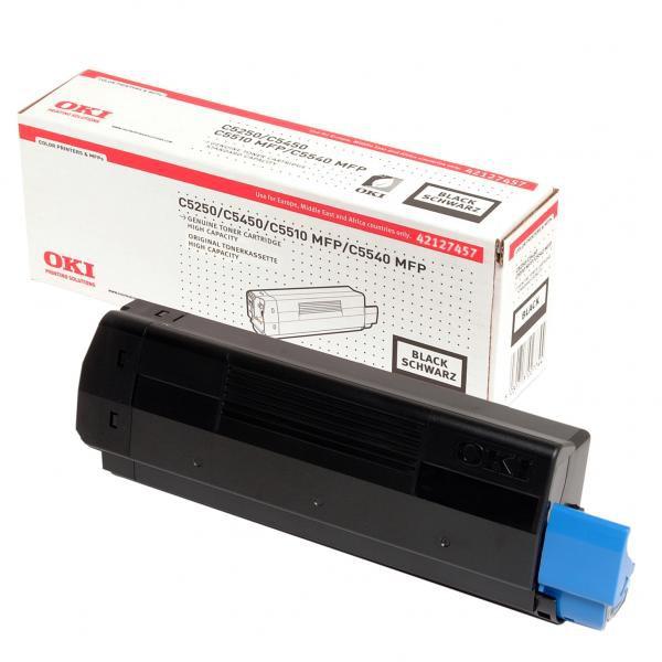 OKI originální toner 42127457, black, 5000str., OKI C5250, 5450, 5500, C5510MFP, C5540MFP